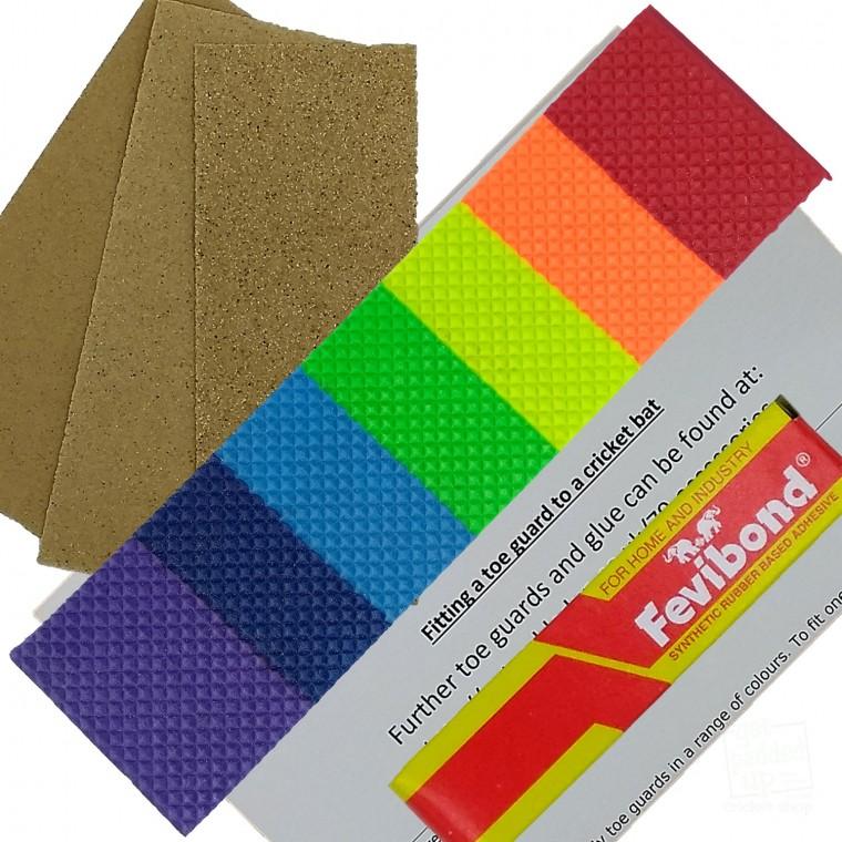 Rainbow Cricket Bat Toe Guard Kit