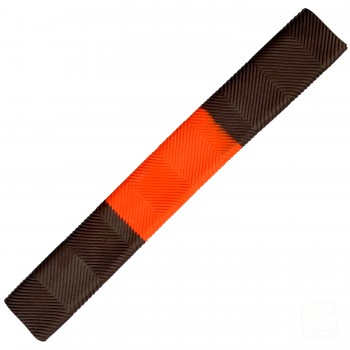 Brown and Orange Chevron Cricket Bat Grip