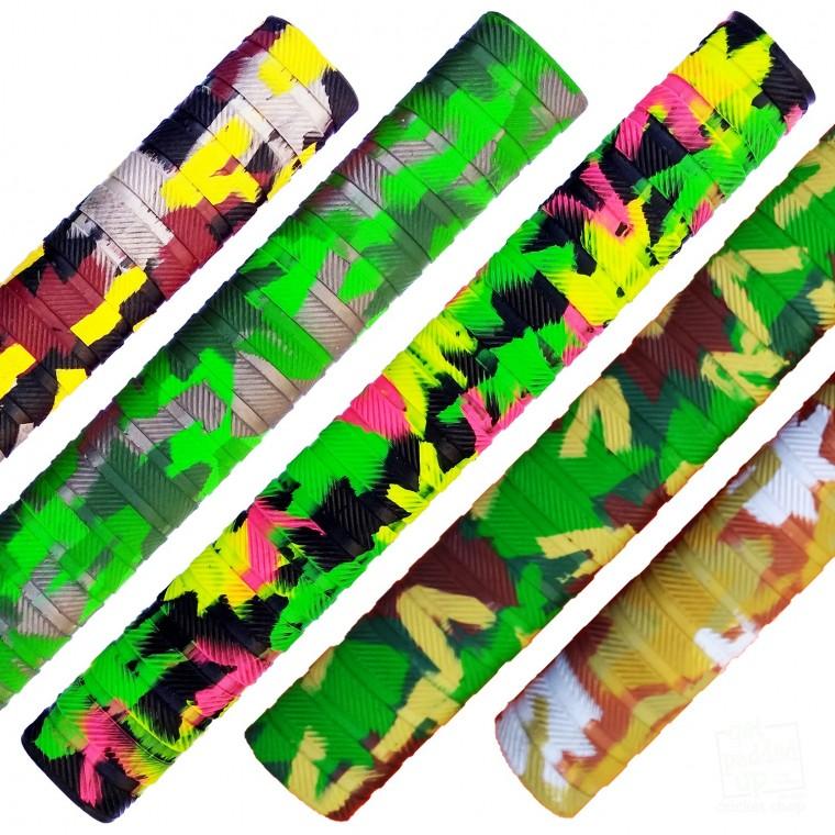Multi Pack Players Matrix Camouflage Cricket Bat Grip