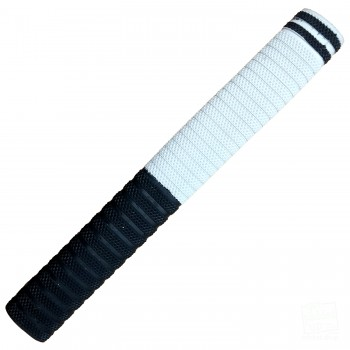 Dynamite Black and White with Black Cricket Bat Grip