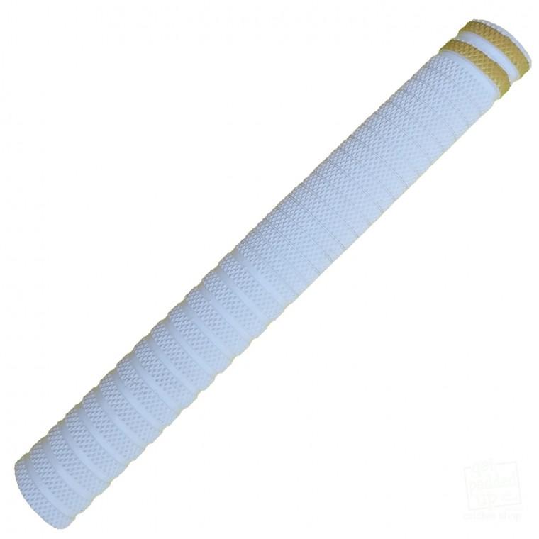 White with Gold Dynamite Cricket Bat Grip