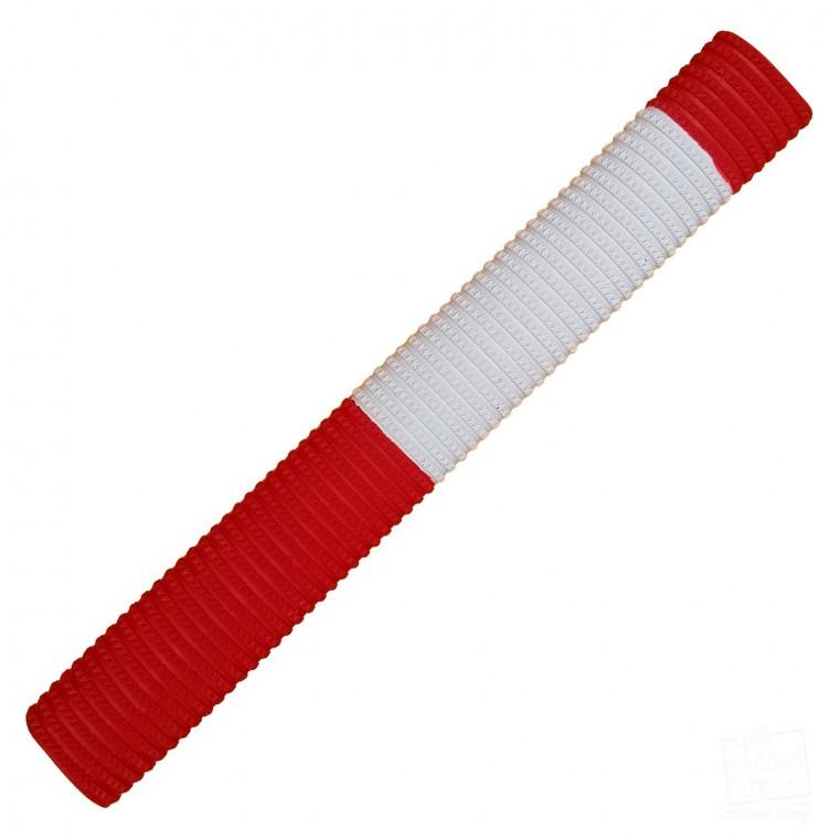 Red and White Bracelet Cricket Bat Grip