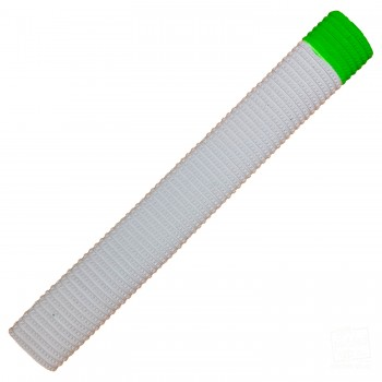 White and Lime Green Bracelet Cricket Bat Grip