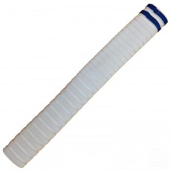 White with Metallic Blue Dynamite Cricket Bat Grip
