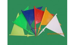 10 Coloured Cricket Boundary Flags