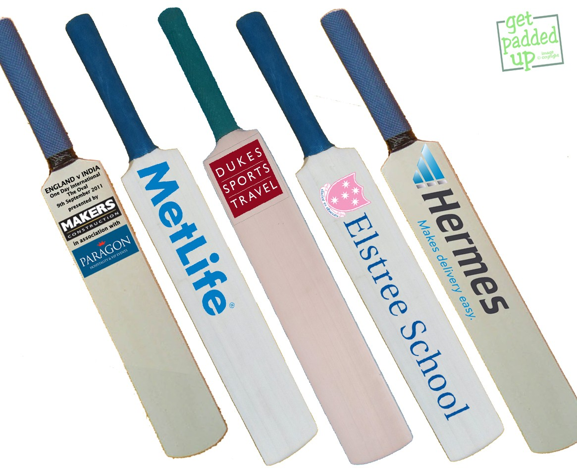 Personalised Corporate or Promotional Miniature Cricket Bat