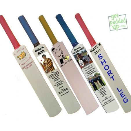Personalised Birthday or Anniversary Miniature Cricket Bat