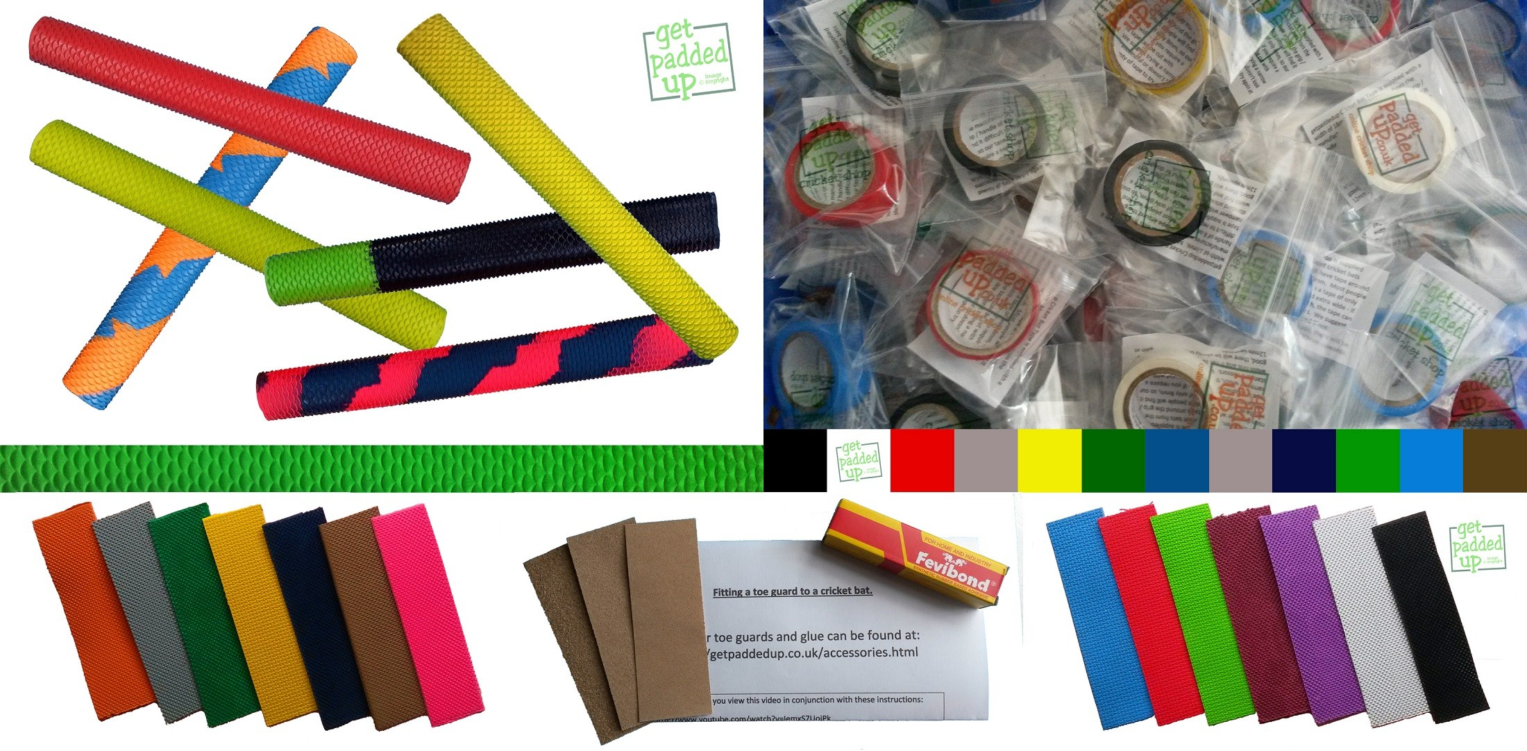 Eco Cricket Bat Repair Kit with Scale/Snake Grip