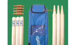 CA Sports Cricket Stumps (Set of 6) with Premium Bails (Set of 4)