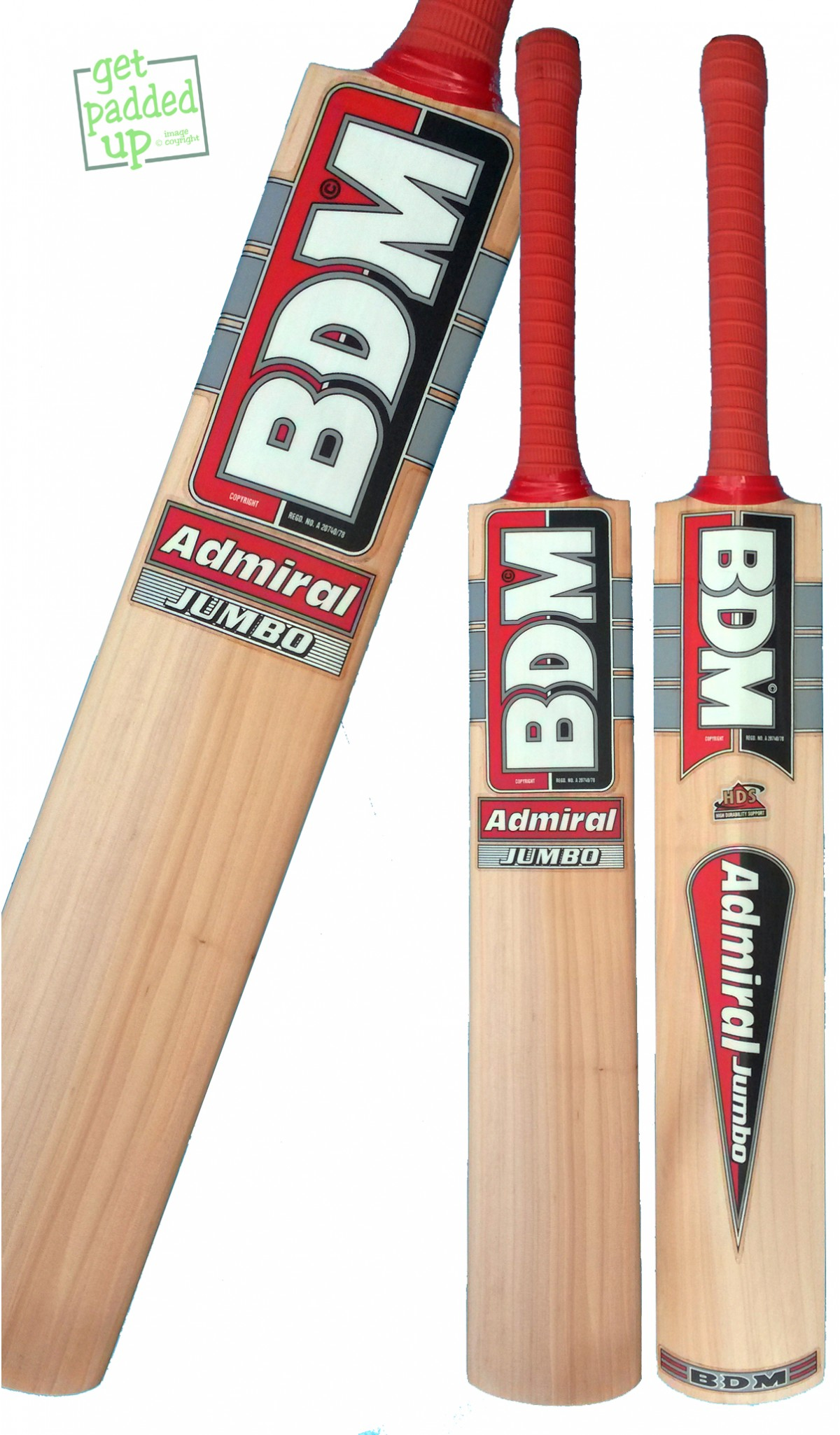 BDM Admiral Jumbo Cricket Bat (Junior)