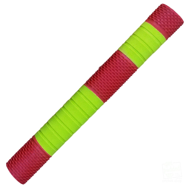 Bands Neon Yellow Red Scale getpaddedup Penta Cricket Bat Grip